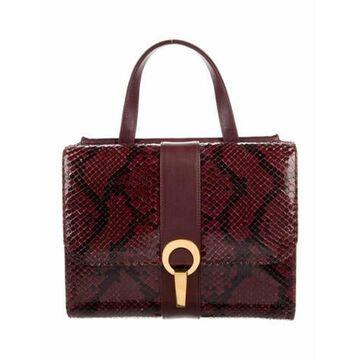 Bordeaux Python Crossbody Bag Gold