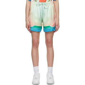 Casablanca Pink & Beige Silk Kapalia Shorts
