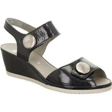ara Women's Carrie 37113 Sandal Black Nubuck