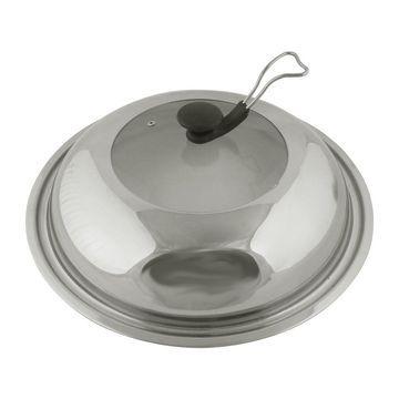 Unique Bargains Restaurant Stainless Steel Kitchenware Cooker Pot Frying Pan Lid Cover 40cm Dia