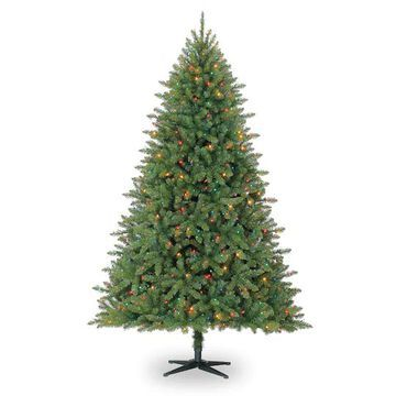 7.5Ft Pre-Lit Hartford Pine Artificial Christmas Tree, Multicolor Lights by Ashland   Michaels