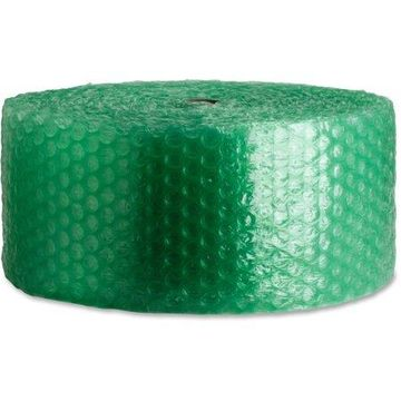 Sparco, SPR74974, 300' Recycled Bubble Cushioning, 4 / Bag, Green