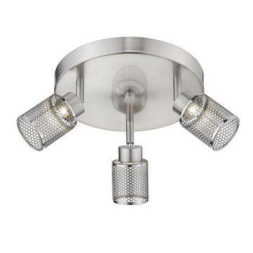 Eglo Temmar 3-Light Brushed Nickel LED Flush Mount Track Lighting