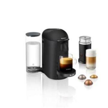 Nespresso by Breville VertuoPlus Deluxe Matte Black Coffee & Espresso Machine with Aeroccino3