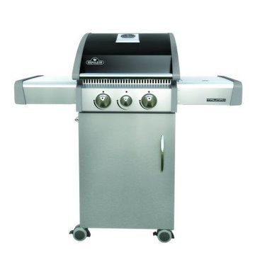 Napoleon Triumph 325 LP Gas Grill with Side Burner, Black with Cover