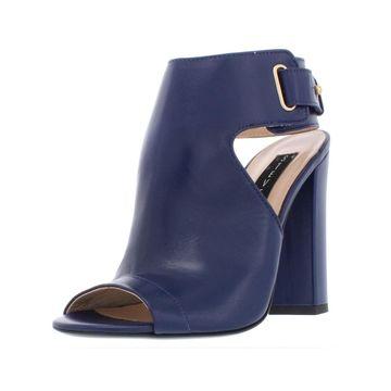 Steven By Steve Madden Womens Zadie Ankle Boots Leather Block Heel