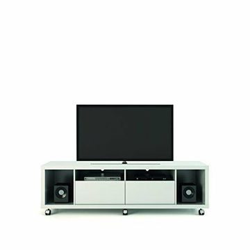 Manhattan Comfort Cabrini 1.8 TV Stand- White Gloss New