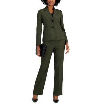 Le Suit Two-Button Pinstripe Pantsuit