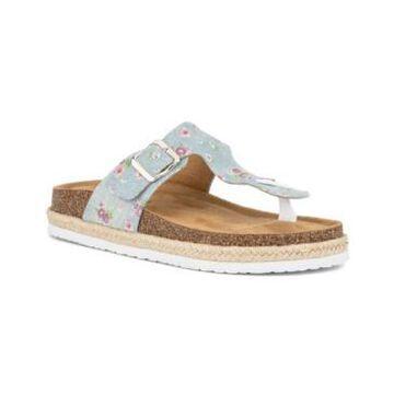 Olivia Miller Women's Floral Footbed Sandals Women's Shoes