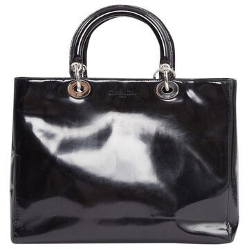 Dior Lady Dior Black Patent leather Handbag