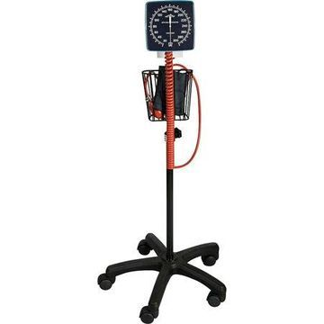 Medline, MIIMDS9407, Mobile Aneroid Sphygmomanometer, 1 Each, Black