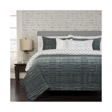 Siscovers Interweave Contemporary Reversible 5 Piece Twin Luxury Duvet Set Bedding