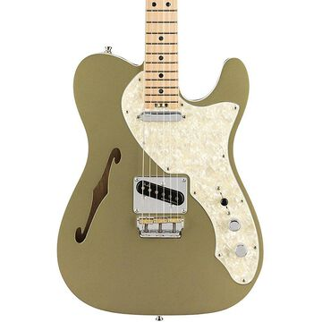Fender American Elite Telecaster Thinline Maple Fingerboard Electric Guitar Satin Jade Pearl Metallic