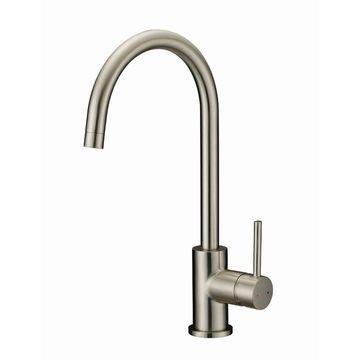 Design House 547737 Single Handle Kitchen Faucet - Satin Nickel
