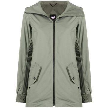 zip-through hooded coat