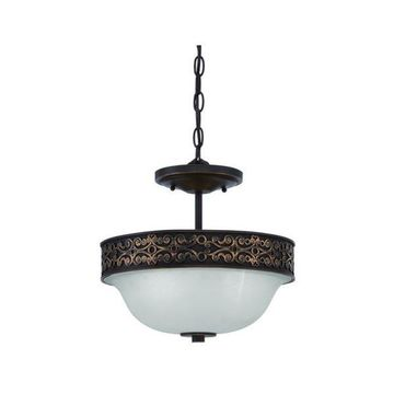 Jeremiah Lighting 36352-ABZG Aged Bronze / Gold Amsden 2-Light Semi-Flush Ceilin