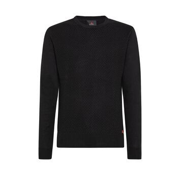 Peuterey Peuterey Microjacquard Knitted Sweater