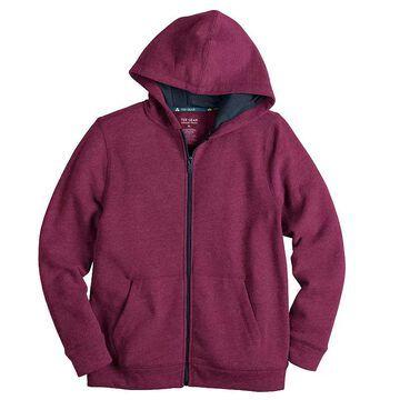 Boys 8-20 Tek Gear Ultra Soft Full-Zip Hoodie, Boy's, Size: XL HUSKY, Dark Pink