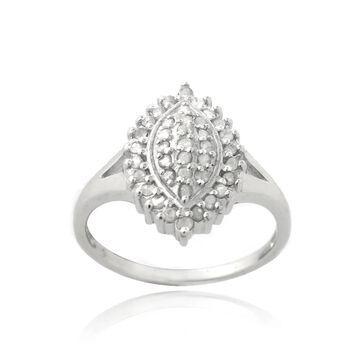 DB Designs Silevrtone 3/8ct TDW Diamond Marquise Shape Ring (7)