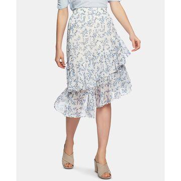 Blossom Printed Tiered Asymmetrical Skirt