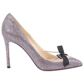 Christian Louboutin Pink Glitter Heels