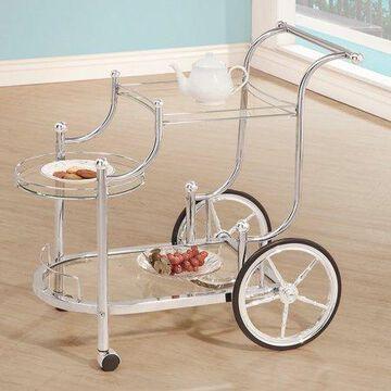 Coaster Company Bar and Serving Cart, Silver