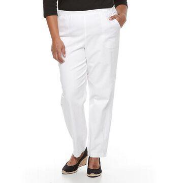 Plus Size Croft & Barrow Pull On Pants, Women's, Size: 3XL, White