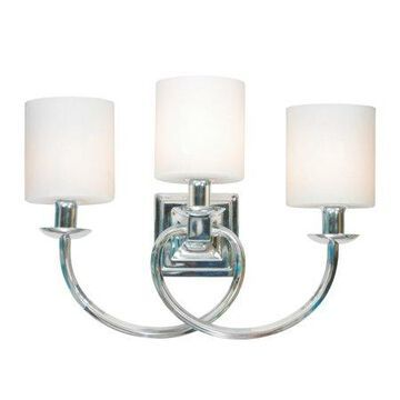 Design House 579466 Mila 3-Light Vanity Light, Polished Chrome