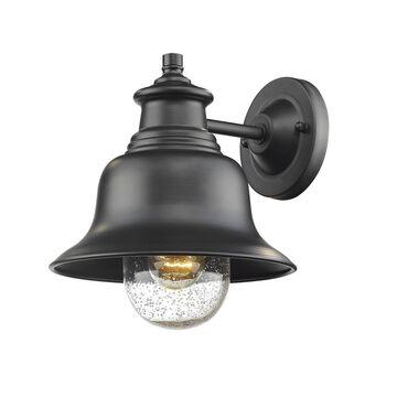 Millennium Lighting 10-in H Powder Coat Black Medium Base (E-26) Outdoor Wall Light   2512-PBK