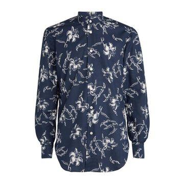 Kiton Cotton Floral Shirt
