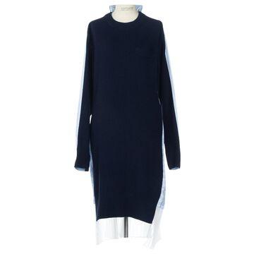 Sacai Blue Wool Dresses