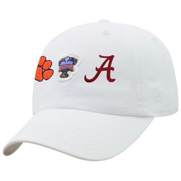 Alabama Crimson Tide vs. Clemson Tigers Top of the World College Football Playoff 2018 Sugar Bowl Dueling Adjustable Hat - White
