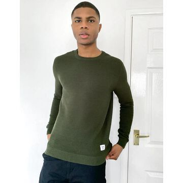 Only & Sons sweater in dark khaki-Green