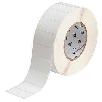 BRADY THT-137-7425-2 Label,White,Blank,Polypropylene