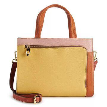 AmeriLeather Denisse Leather Crossbody Bag, Multicolor
