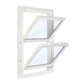 ReliaBilt 3500 Vinyl Replacement White Exterior Double Hung Window (Rough Opening: 32-in x 53.75-in; Actual: 31.75-in x 53.5-in)