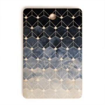 Deny Designs Blue Hexagons and Diamonds Rectangle Cutting Board