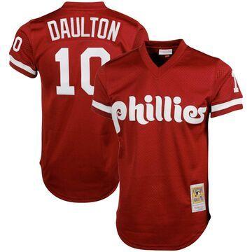 Mitchell & Ness Darren Daulton Philadelphia Phillies Red Cooperstown Collection Big & Tall Mesh Batting Practice Jersey