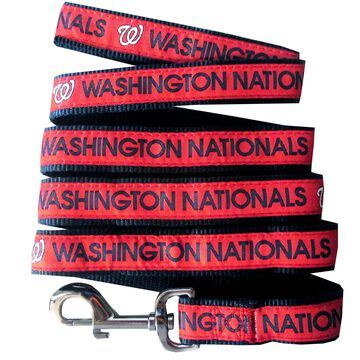 Pets First Washington Nationals Leash, Small, Red
