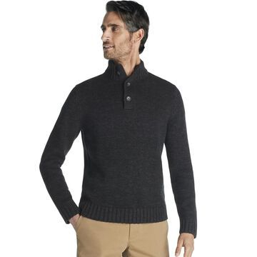 Men's IZOD Classic-Fit Marled Button-Neck Sweater