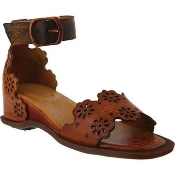 L'Artiste by Spring Step Women's Niarah Ankle Strap Sandal Brown Leather