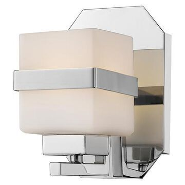 Ascend Single Light 5 Wide 8 Watt LED Wall Sconce with Matte Opal Glas