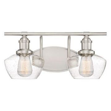 Quoizel Stillwater 2-Light Vanity Light in Brushed Nickel