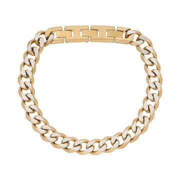 LYNX Men's Stainless Steel Curb Chain Bracelet