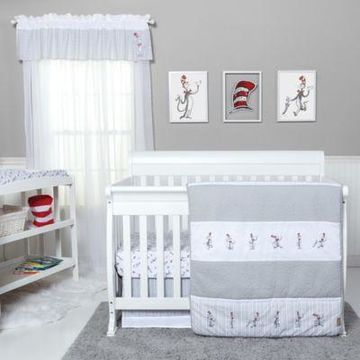 Trend Lab Dr. Seuss The Cat in the Hat Comes Back 4-Piece Crib Bedding Set