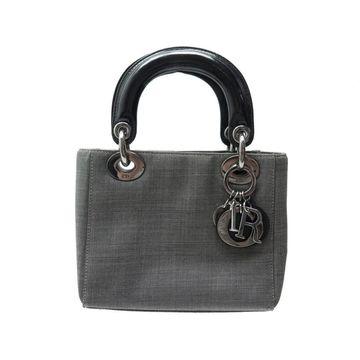 Dior Lady Dior Grey Cloth Handbag