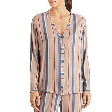 Hanro Sleep & Lounge Woven Viscose Long Sleeve Top