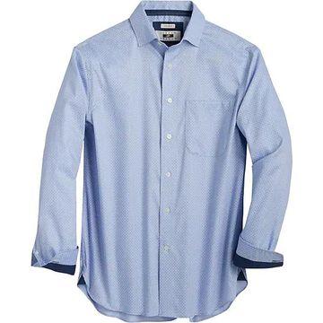 Joseph Abboud Men's Blue Paisley Woven Cotton Sport Shirt - Size: XL