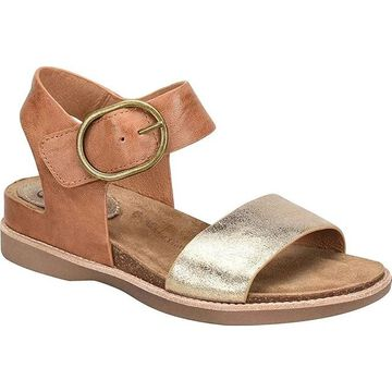 Sofft Womens Bali Leather Open Toe Casual Ankle Strap Sandals