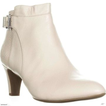 Alfani Womens Viollet Leather Almond Toe Ankle Fashion Boots